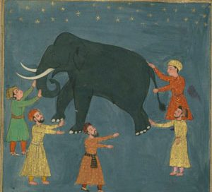 Mughal painting, from the 1600s AD (now in Walters Art Museum)