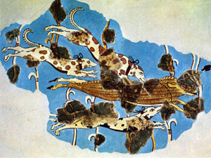 Boar hunt from Tiryns (ca. 1300 BC)