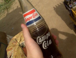 A bottle of Indian-made Campa-Cola