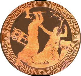 Clytemnestra kills Cassandra - Greek red figure vase