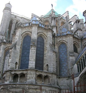 The apse of Chartres cathedral