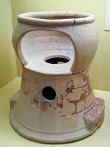 Child's high chair/potty seat (Athens, ca. 580 BC)