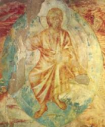 Fresco of Jesus, from the church of St. Francis in Assisi.