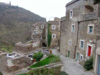 Stone houses in a village in Colleta di Castelbianco, Italy
