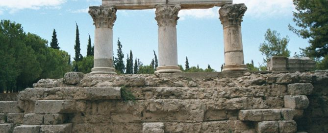 The Temple of Octavia in Corinth, dedicated to the sister of the emperor Augustus