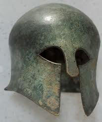 Corinthian helmet from the 600s BC: Greek hoplites and democracy