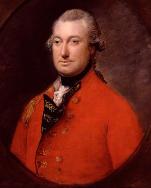 Cornwallis (1783): a middle-aged white man, beardless in a red jacket