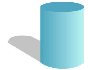 A blue cylinder