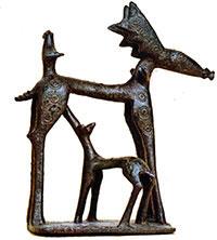 Deer nursing (Thebes, ca. 750 BC)