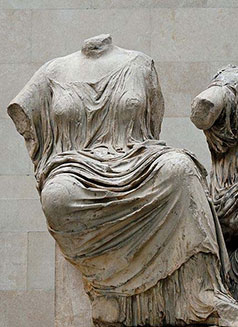Demeter, on the pediment of the Parthenon