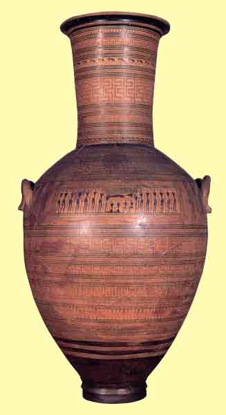 Dipylon Vase (Geometric), from Athens.