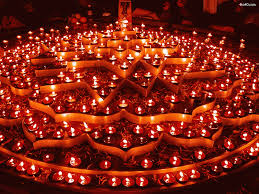 Lights of a Diwali celebration - Indian religion