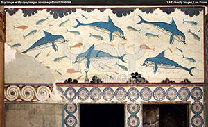 Dolphin fresco, Knossos, Crete