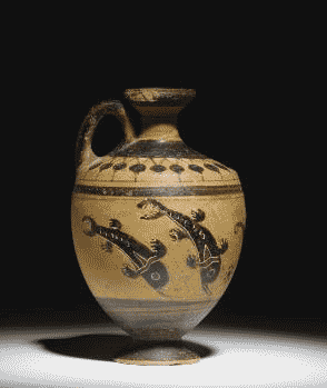 Dolphins on an Etruscan vase from about 520 BC