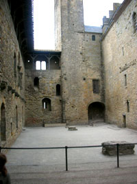 The central castle at Carcassonne