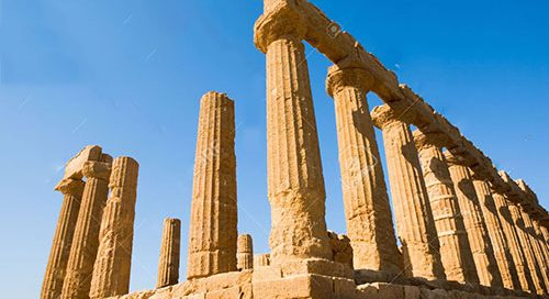 The Doric temple of Juno in Agrigento, Sicily