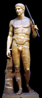 Doryphoros; Vatican museum, Rome