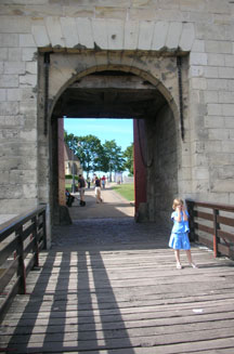 Moat and drawbridge at Caen