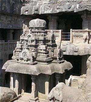 Ellora Cave Temples, ca.1000 AD