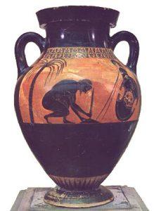 Ajax kills himself (Vase byExekias, ca. 540 BC)