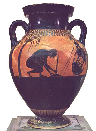 Ajax kills himself (Vase by Exekias, ca. 540 BC)