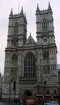 Westminster Abbey western facade (front)