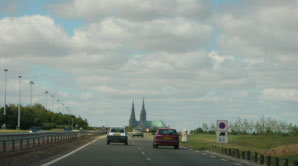 Chartres on the horizon