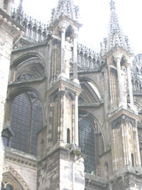 Reims flying buttresses