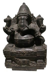 Ganesh (Musee Guimet, Paris, from Tamil Nadu, ca. 1500 AD)