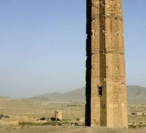 A minaret in Ghazni (Afghanistan), from about 1000 AD