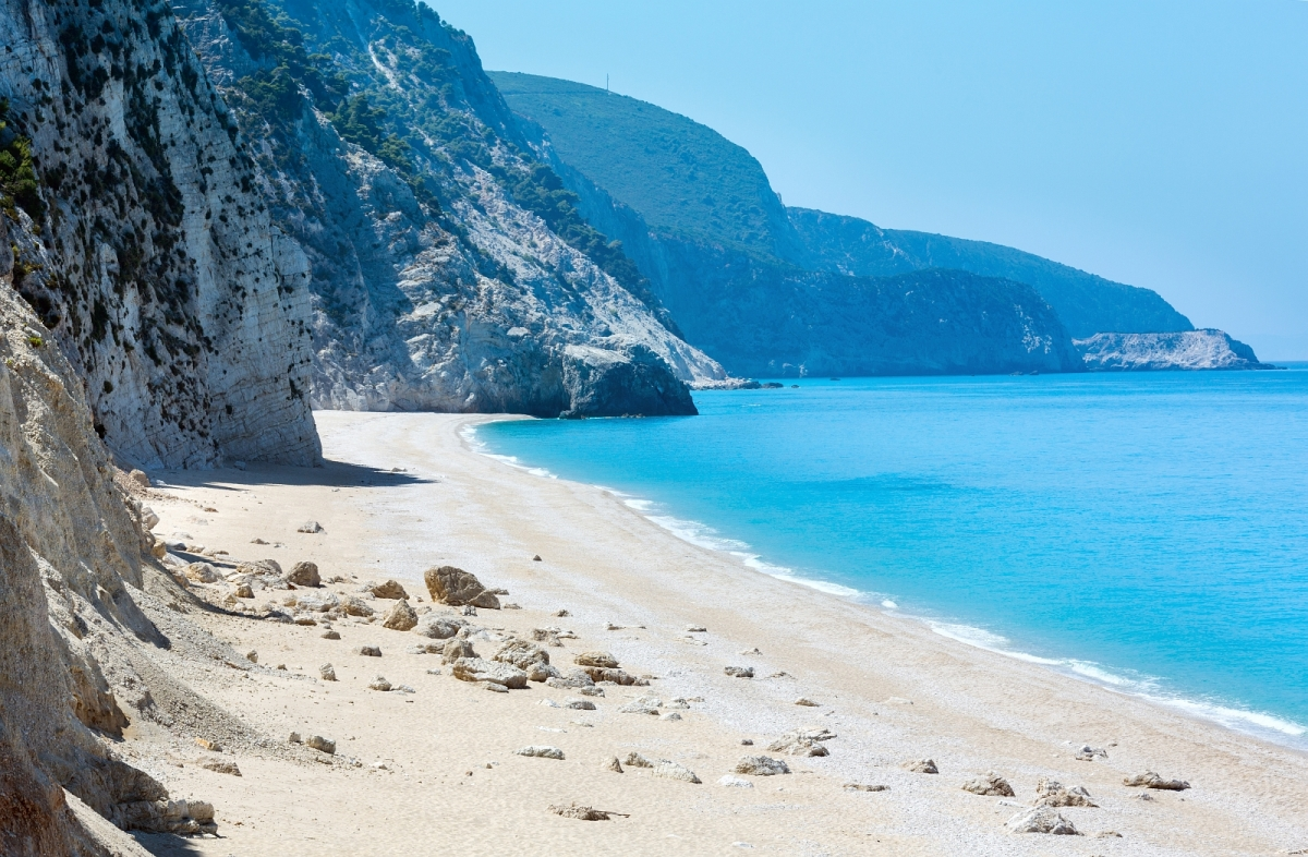 Greek beaches are sandy and beautiful, and the water is warm!