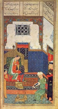Iskander (Alexander the Great), Persian miniature from Herat, 1400s AD