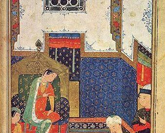 Iskander (Alexander the Great),Persian miniature from Herat, 1400s AD