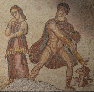 Herakles goes nuts on Megara and a kid (from Lusitania, modern Portugal)