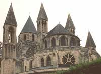 The Romanesque Abbaye aux Hommes, in Caen (about 1050 AD)