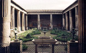 Peristyle in the House of the Vettii (Pompeii, 79 AD)