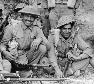 Indian soldiers in Burma during World War II