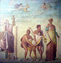 Iphigeneia brought to the sacrifice (Pompeii, ca. 79 AD)