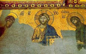 MosaicofJesus, inHagia Sophia(Constantinople, ca.1275 AD)