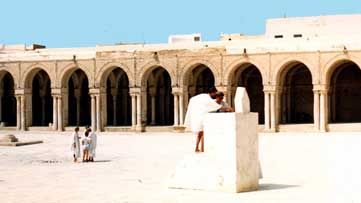 Kairouan mosque's courtyard
