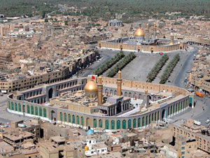Shiite shrine at Karbala (from the 1800s AD): the tomb of Ali's son Hussein