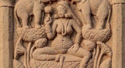 Lakshmi (Sanchi Stupa, central India, 200s BC)