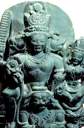 Vishnu and Lakshmi (Kashmir, 1000s AD now in Los Angeles)