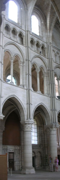 Inside Laon cathedral (1160s)