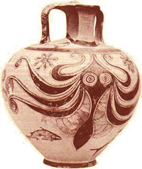 An even later octopus vase
