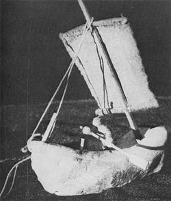 Model boat from Lothal (ca. 2300 BC, reconstructed)