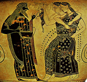 Drinking and dancing: Dionysos throws a party(Amasis painter, Athens, ca. 540 BC)