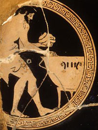 A man cooking (Athens, 400s BC)