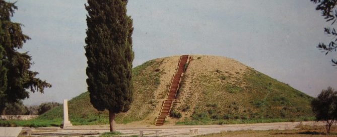 This is where the Greek soldiers who died at Marathon are buried