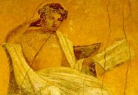 Menander, in a fresco painting